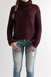 She + Sky Cropped Turtleneck Sweater - Front cropped