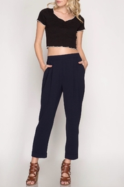 She + Sky Cropped Woven Pants - Front cropped