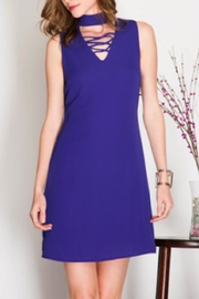 She + Sky Crossed-Out Choker Dress - Front cropped