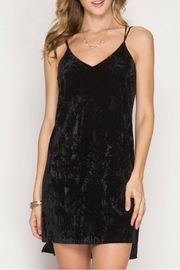 She + Sky Crushed Velvet Slip Dress - Product Mini Image