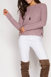 She + Sky Daisy Sweater - Front cropped
