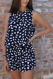 She + Sky Dalmation Romper - Side cropped