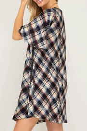 She + Sky Darcy Plaid Dress - Front full body