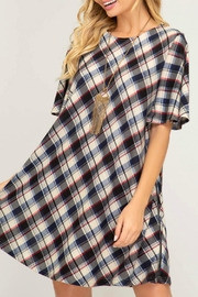 She + Sky Darcy Plaid Dress - Front cropped