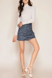 She + Sky Delaney Suede Skirt - Product Mini Image