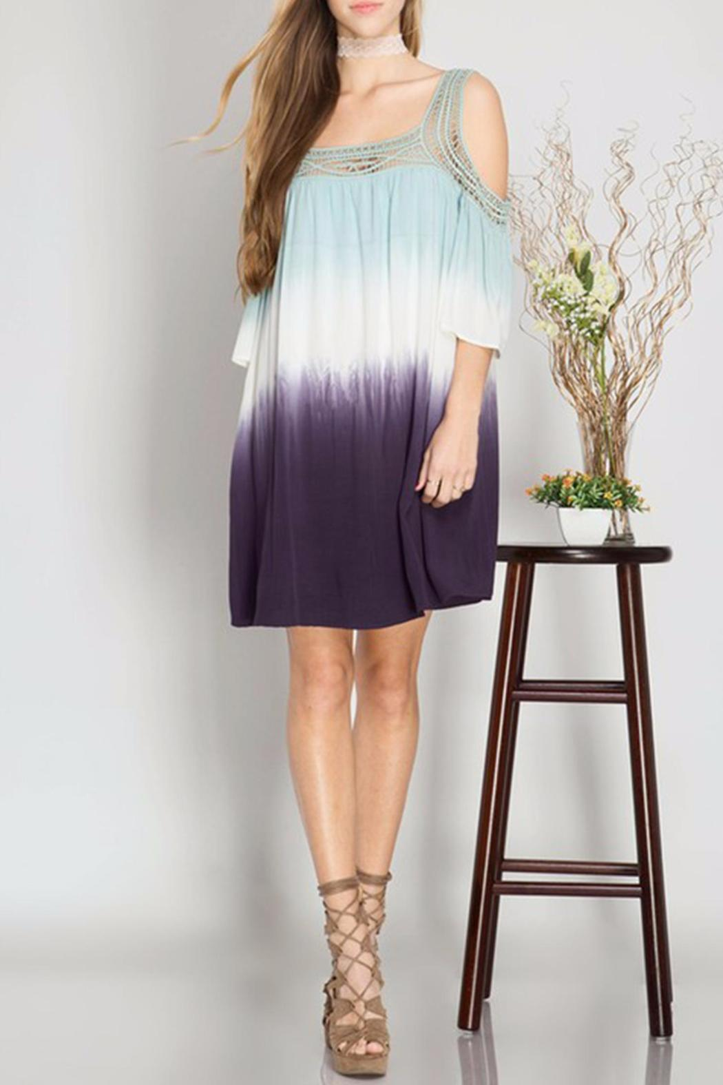 She + Sky Dip Dye Dress - Front Cropped Image