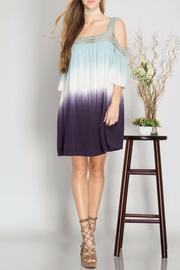 She + Sky Dip Dye Dress - Front cropped