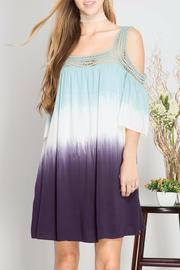 She + Sky Dip Dye Dress - Side cropped