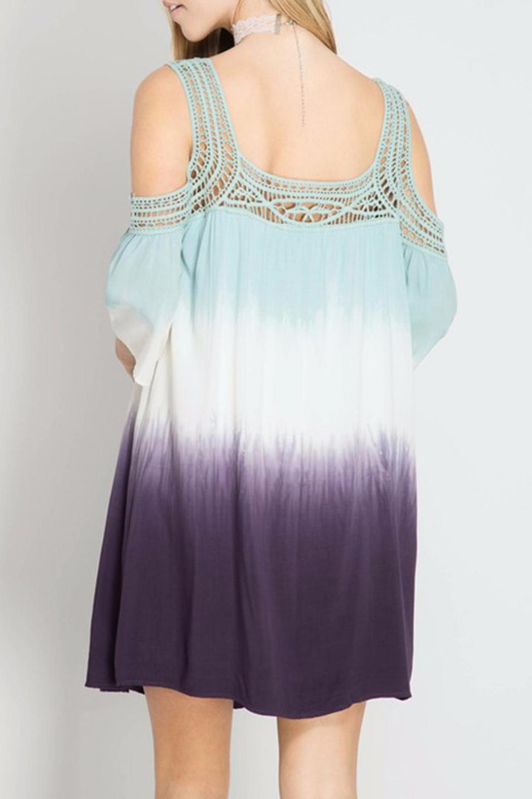 She + Sky Dip Dye Dress - Back Cropped Image