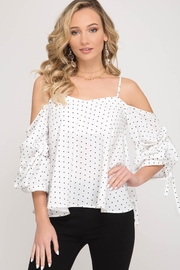 She + Sky Dottie Cold Shoulder - Front cropped