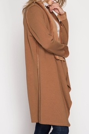 She + Sky Double Faced Open Cardigan - Back cropped