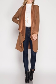 She + Sky Double Faced Open Cardigan - Other