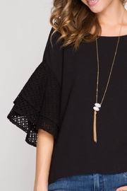 She + Sky Double Ruffled Top - Side cropped