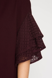 She + Sky Double Ruffled Top - Back cropped