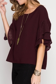 She + Sky Double Ruffled Top - Other