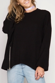 She + Sky Double Zipper Sweater - Product Mini Image