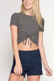 She + Sky Drawstring Crop Top - Front cropped
