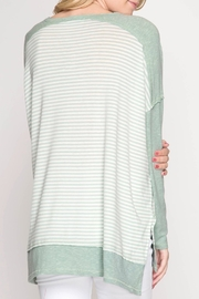 She + Sky Dropped Shoulder Top - Side cropped