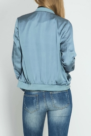 She + Sky Dusty Blue Bomber Jacket - Side cropped