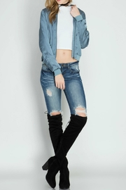 She + Sky Dusty Blue Bomber Jacket - Other