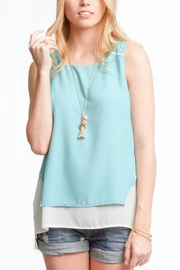 She + Sky Dusty Mint Top - Product Mini Image