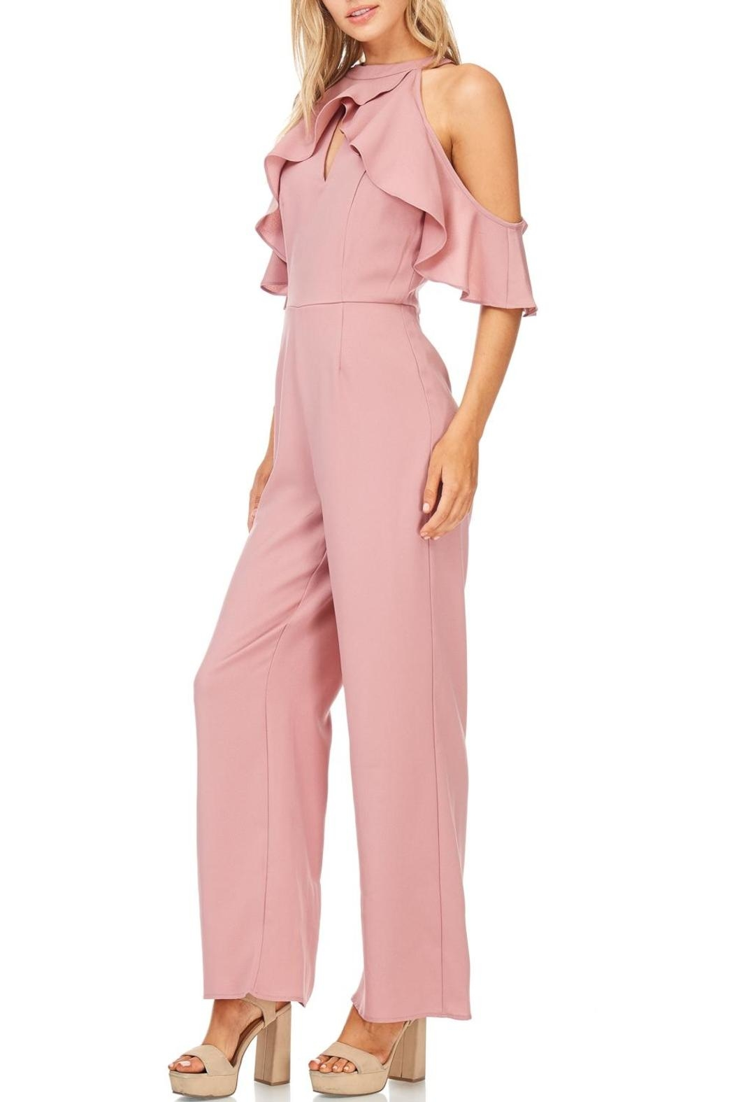 She + Sky Dusty Rose Jumpsuit - Front Full Image
