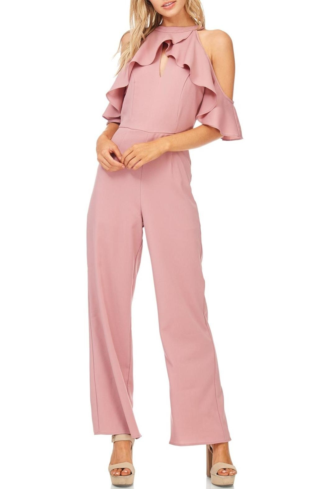 She + Sky Dusty Rose Jumpsuit - Main Image