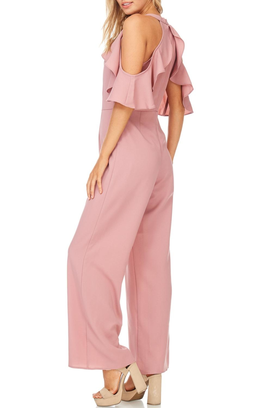 She + Sky Dusty Rose Jumpsuit - Side Cropped Image