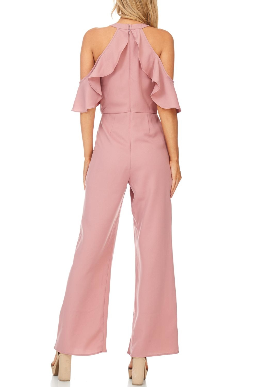 She + Sky Dusty Rose Jumpsuit - Back Cropped Image