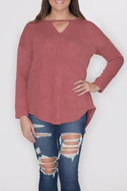 She + Sky Elbow Patch Sweater - Product Mini Image
