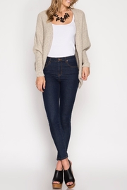 She + Sky Elvira Open Cardigan - Front cropped