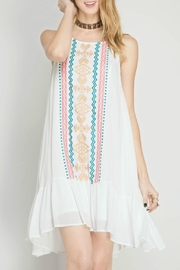 She + Sky Embroidered Dress - Product Mini Image