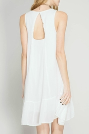 She + Sky Embroidered Dress - Front full body
