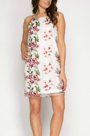 She + Sky Embroidered Floral Dress - Product Mini Image