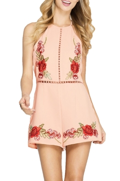 Shoptiques Product: Embroidered Halter Romper