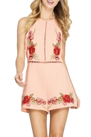 She + Sky Embroidered Halter Romper - Product Mini Image