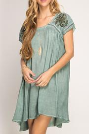 She + Sky Embroidered Swing Dress - Product Mini Image