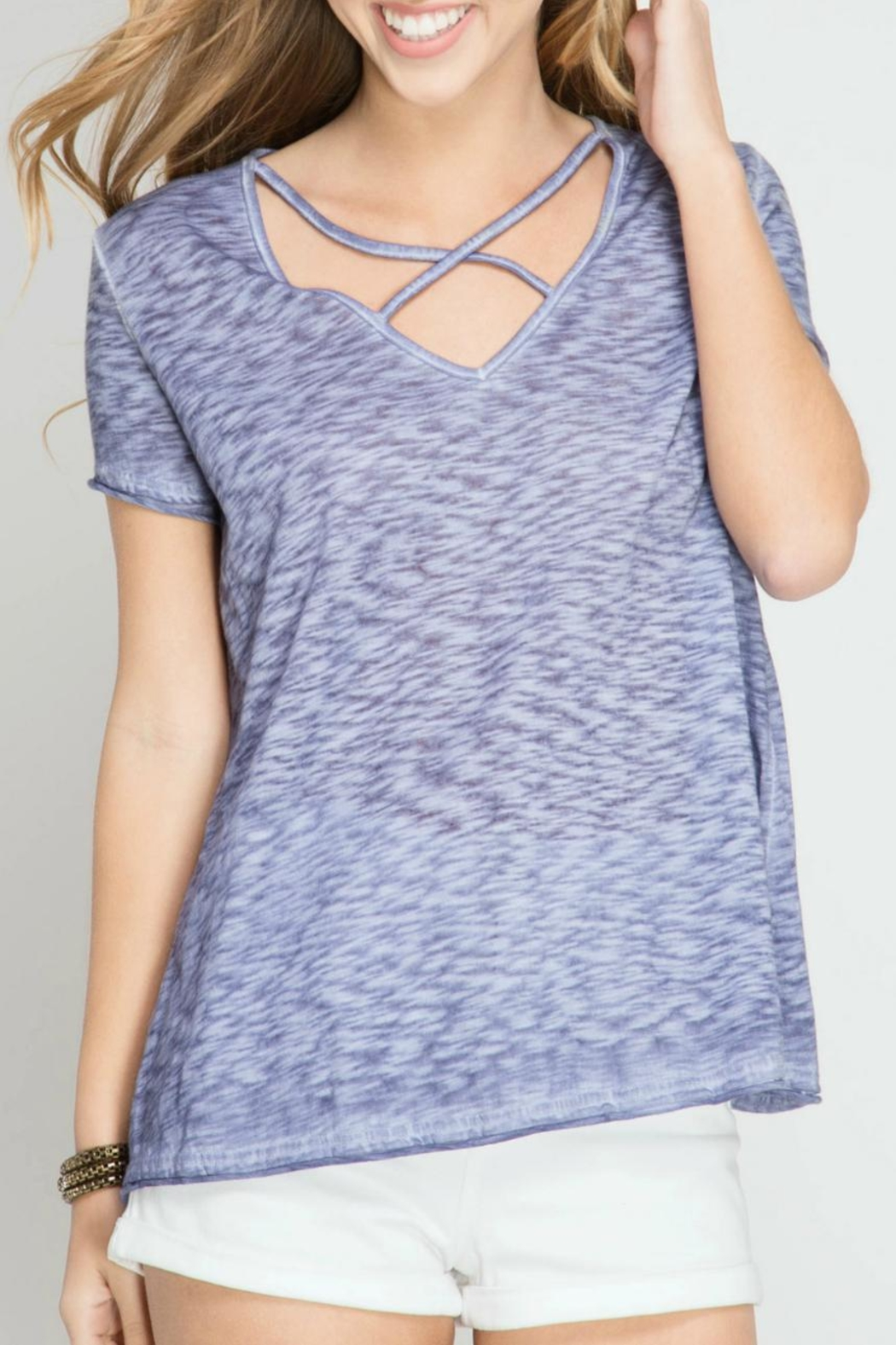 She + Sky Enzyme Wash Top - Main Image