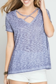 She + Sky Enzyme Wash Top - Front cropped