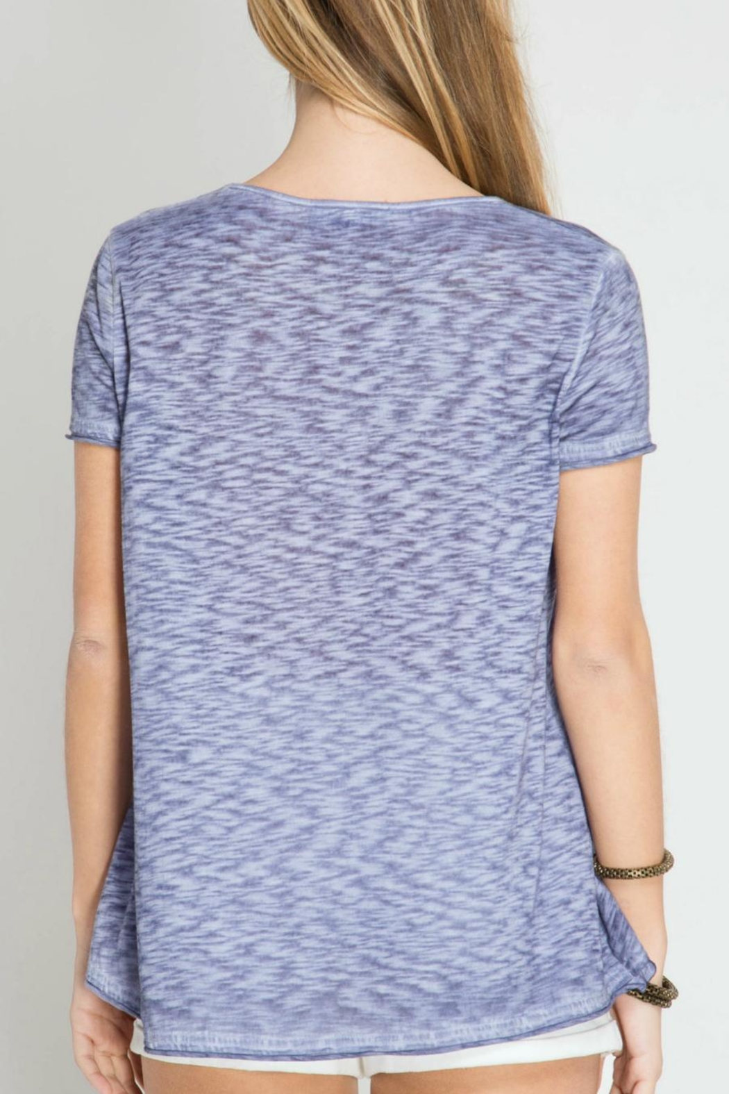 She + Sky Enzyme Wash Top - Front Full Image