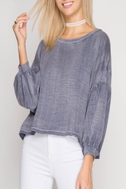 She + Sky Erin Top Navy - Product Mini Image