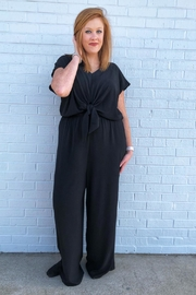 She + Sky Essential Black Jumpsuit - Front cropped