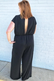 She + Sky Essential Black Jumpsuit - Front full body