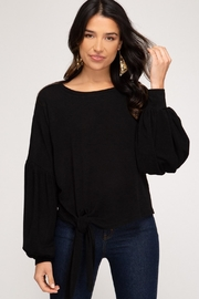 She + Sky Fauna Top Black - Product Mini Image