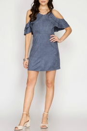 She + Sky Faux Suede Dress - Product Mini Image