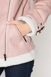 She + Sky Faux Suede Jacket - Back cropped