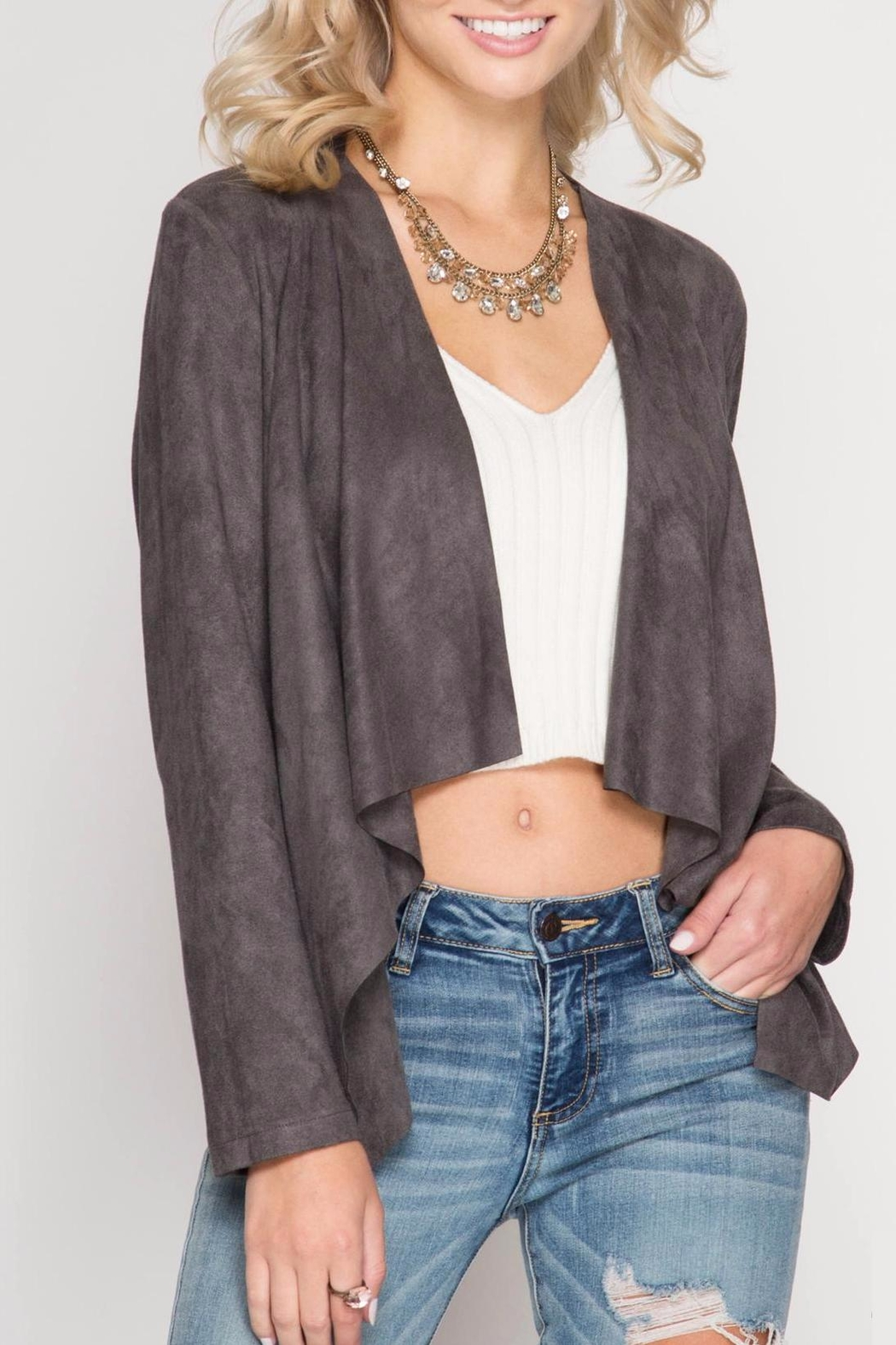 She + Sky Faux Suede Jacket - Main Image