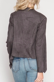She + Sky Faux Suede Jacket - Front full body