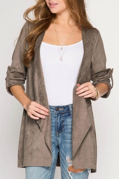 She + Sky Faux Suede Jacket - Product List Image