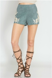 She + Sky Faux Suede Shorts - Product Mini Image